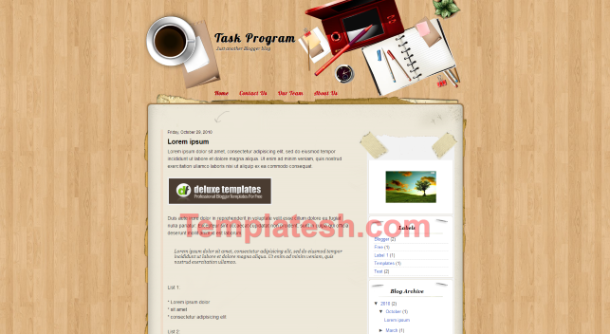task program blogger template