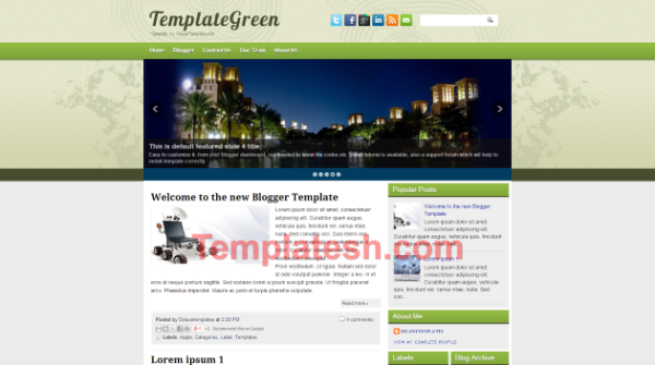template green blogger template