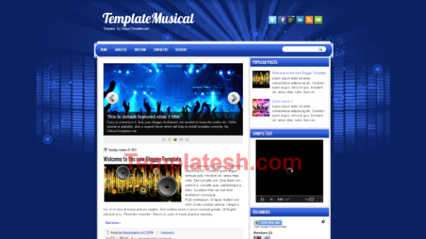 template musical blogger template