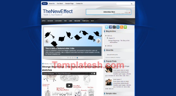 the new effect blogger template