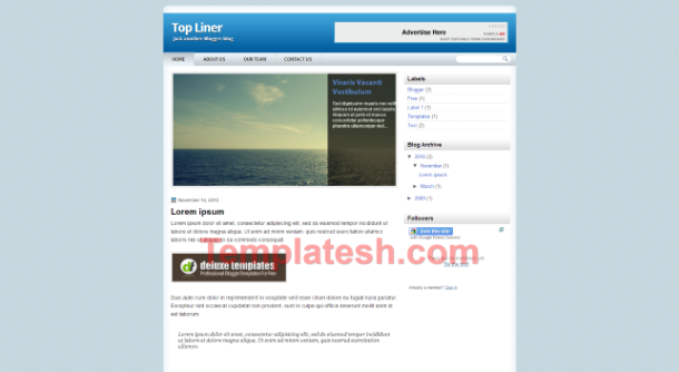 top liner blogger template