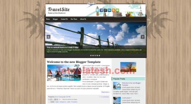 travel site blogger template