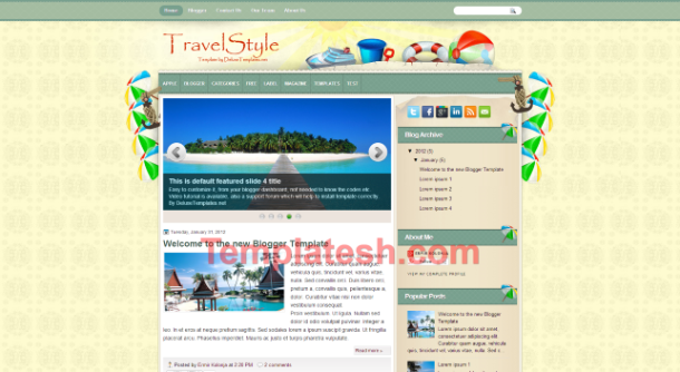 travel style blogger template