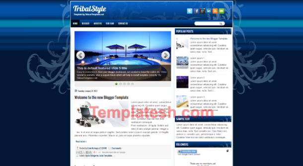tribal style blogger template