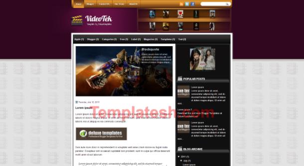 video tek blogger template