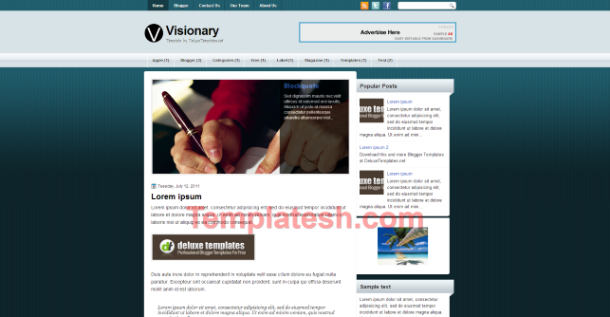 visionary blogger template