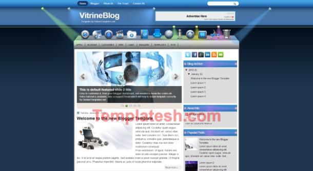 vitrine blog blogger template