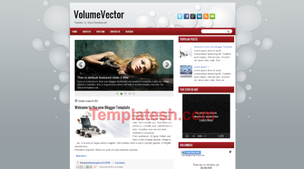volume vector blogger template