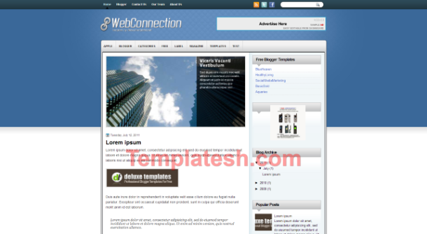 web connection blogger template