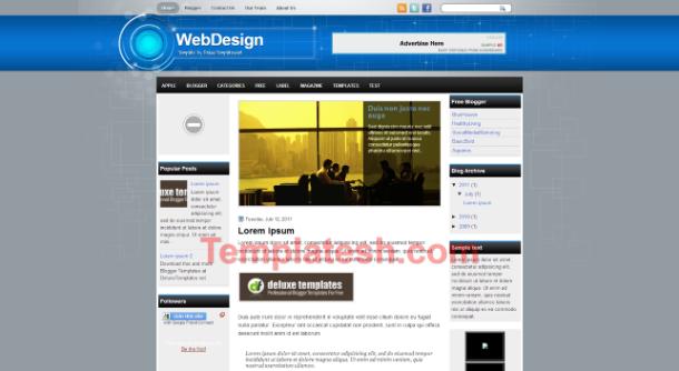 web design blogger template