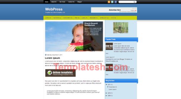 web press blogger template