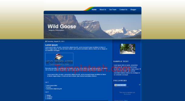 wild goose blogger template