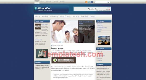 woork out blogger template
