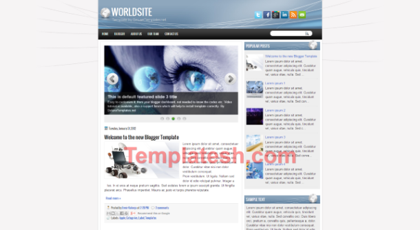 world site blogger template
