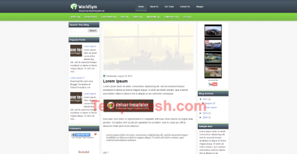 world sym blogger template