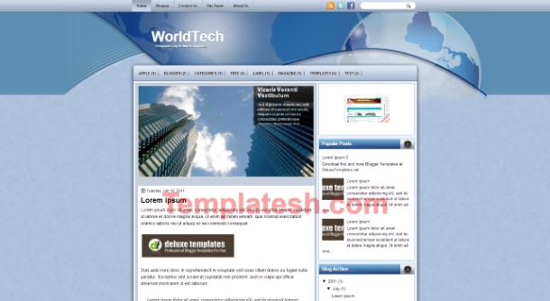 world tech blogger template