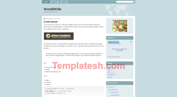 worldwide blogger template